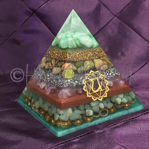 Heart Chakra Orgone Pyramid (PY-0016)-HiVibes Collective