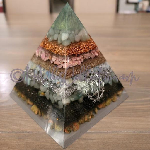 Heart Chakra Orgone Pyramid (PY-0020)-HiVibes Collective