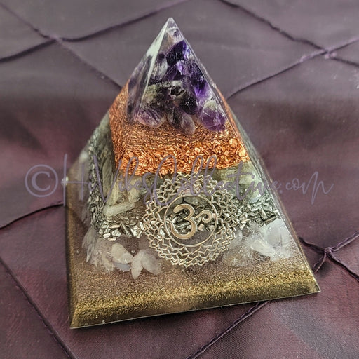 Medium Crown Chakra Orgone Pyramid (PY-0026)-HiVibes Collective