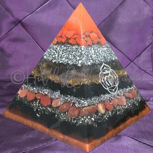 Root Chakra Orgone Pyramid (PY-0011)-HiVibes Collective