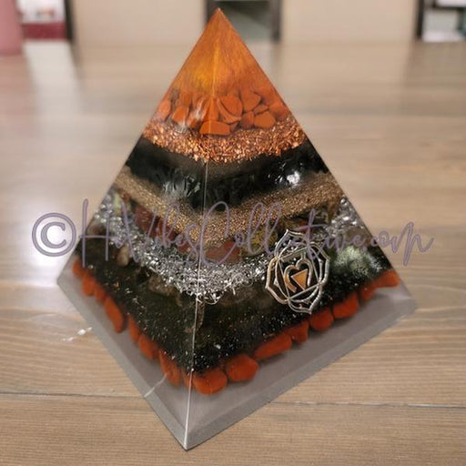 Root Chakra Orgone Pyramid (PY-0023)-HiVibes Collective