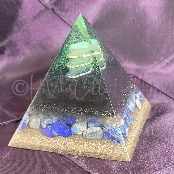 Small EMF Blocker Shungite Orgone Pyramid (PY-0033-SM)-HiVibes Collective