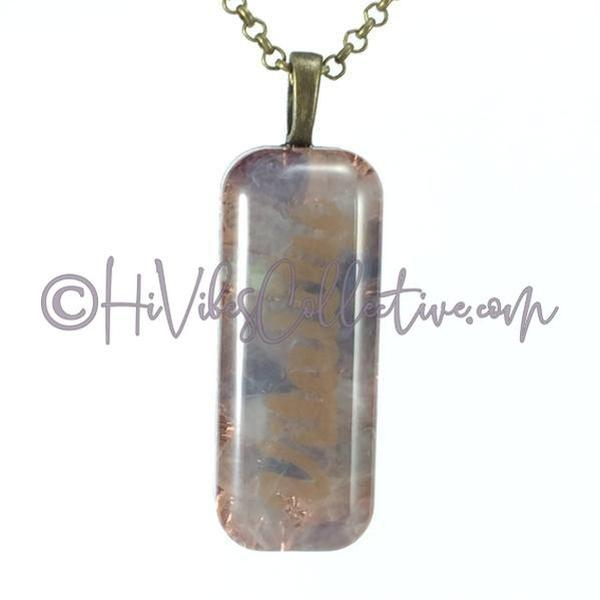 Small Rectangular Orgone with High Vibe Words, Fluorite and Copper Shavings (SR-0002 & 0003)-HiVibes Collective