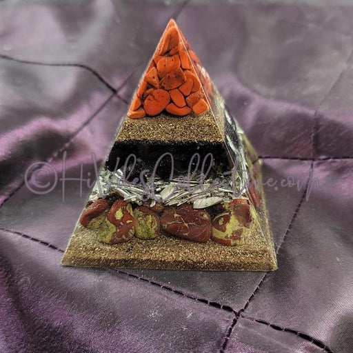 Small Root Chakra Orgone Pyramid (PY-0040)-HiVibes Collective