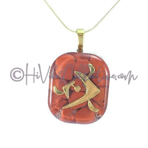 "Square Orgone ""Fire"" Pendant with Red Jasper - 15 options (S-0001) - HiVibes Collective"