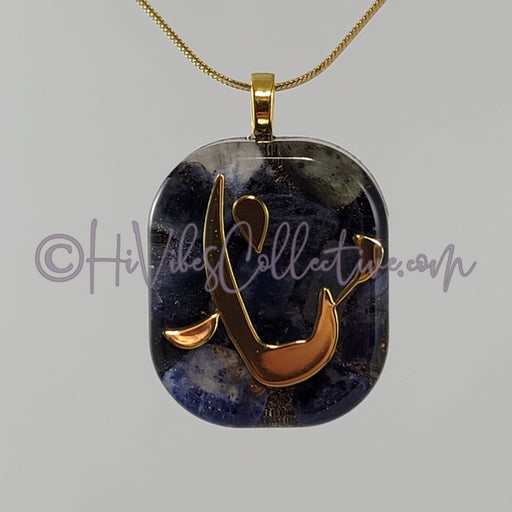 "Square Orgone ""Heaven"" Pendant with Sodalite - 15 options (S-0011) - HiVibes Collective"