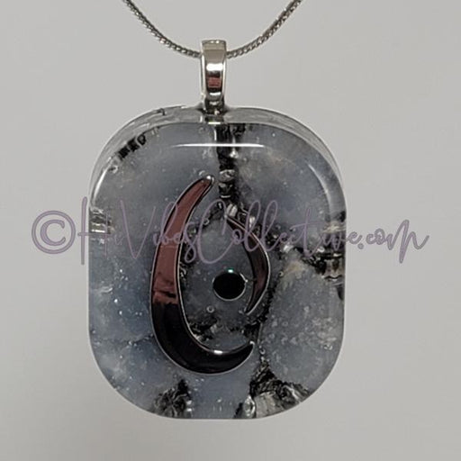 "Square Orgone ""Water"" Pendant with Angelite - 15 options (S-0014) - HiVibes Collective"