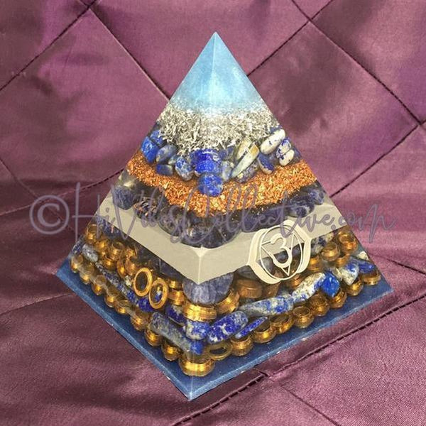 Third Eye Chakra Orgone Pyramid (PY-0015)-HiVibes Collective