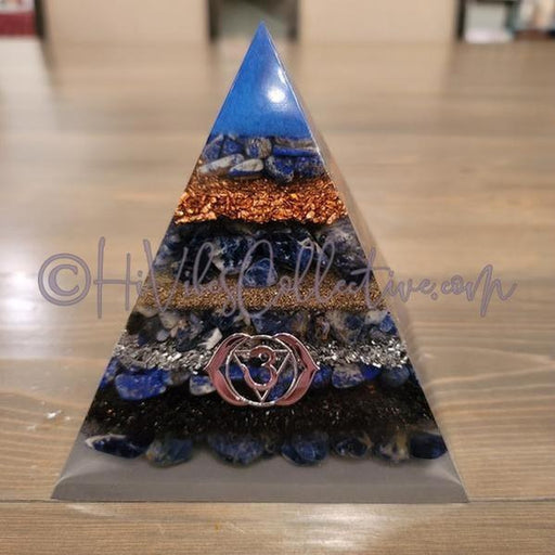 Third Eye Chakra Orgone Pyramid (PY-0018)-HiVibes Collective