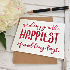 card - wishing you the happiest of wedding days