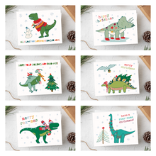 Load image into Gallery viewer, Dino-Mite Christmas Card Set