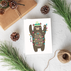 Bear Christmas Card Set
