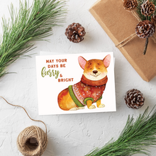 Load image into Gallery viewer, Corgi Christmas Card Set