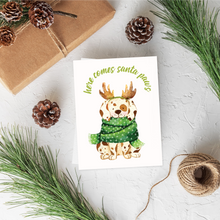 Load image into Gallery viewer, White Terrier Christmas Card Set