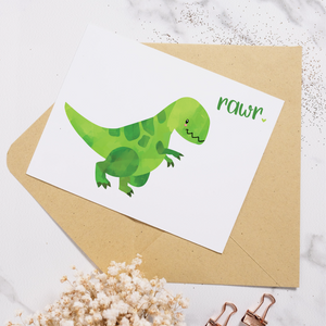T-Rex Rawr - Greeting Card