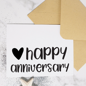 Happy Anniversary - Anniversary Card (Available with Foil)