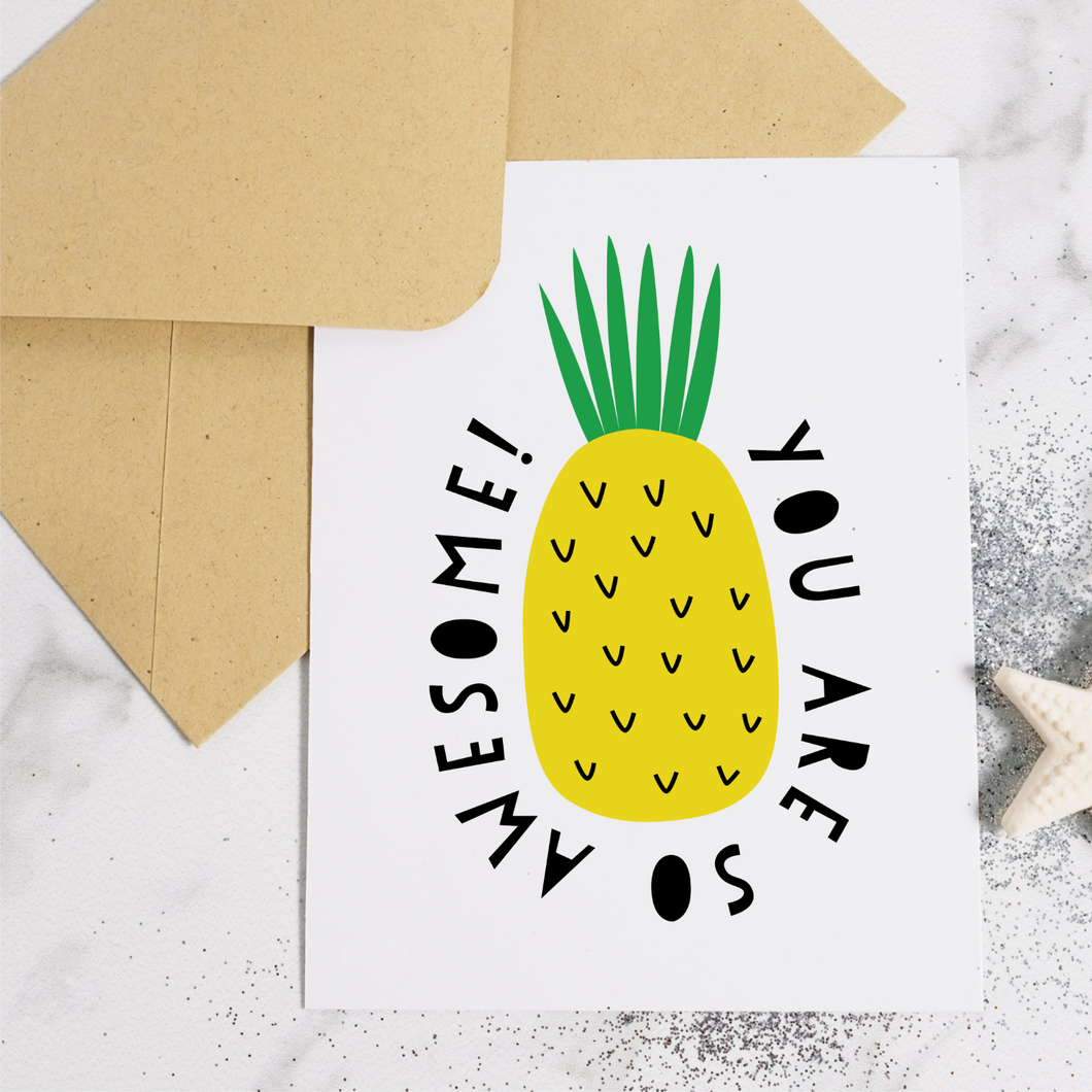 Pineapple Awesome - Greeting Card