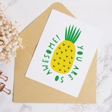 Load image into Gallery viewer, Pineapple Awesome - Greeting Card