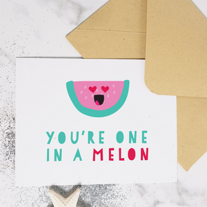 One in a Melon - Greeting Card