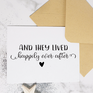 Happily Ever After - Wedding Card (Available with Foil)