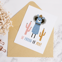Load image into Gallery viewer, Llama So Proud - Greeting Card
