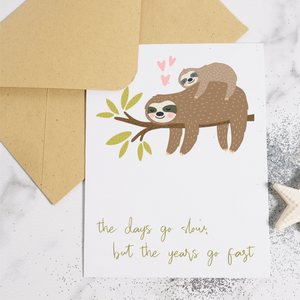 Sloth - New Baby Card