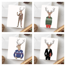 Load image into Gallery viewer, Plaid Suit Christmas Card Set