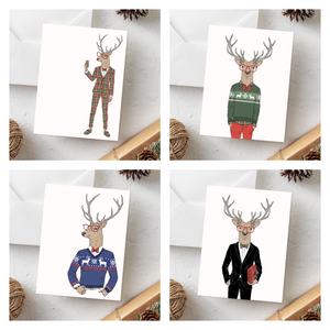 Plaid Suit Christmas Card Set