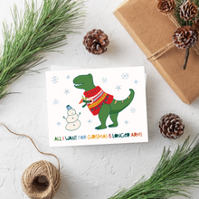 Load image into Gallery viewer, Roar-Some Christmas Card Set