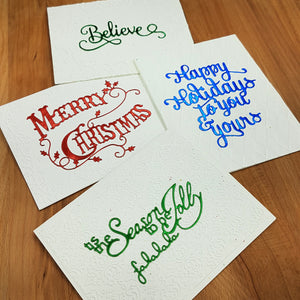 Mother North - Foil Greetings - Christmas Card Set