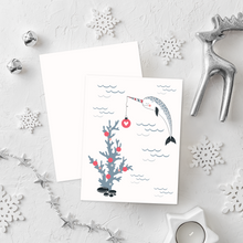 Load image into Gallery viewer, Mermaid Christmas Card Set