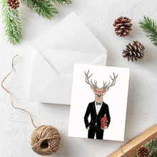 Load image into Gallery viewer, Suit + Tie Christmas Card Set