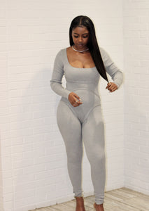 Stretch It Out Jumpsuit - Grey