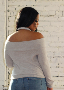 Wrap Me Up Top - Heather Grey