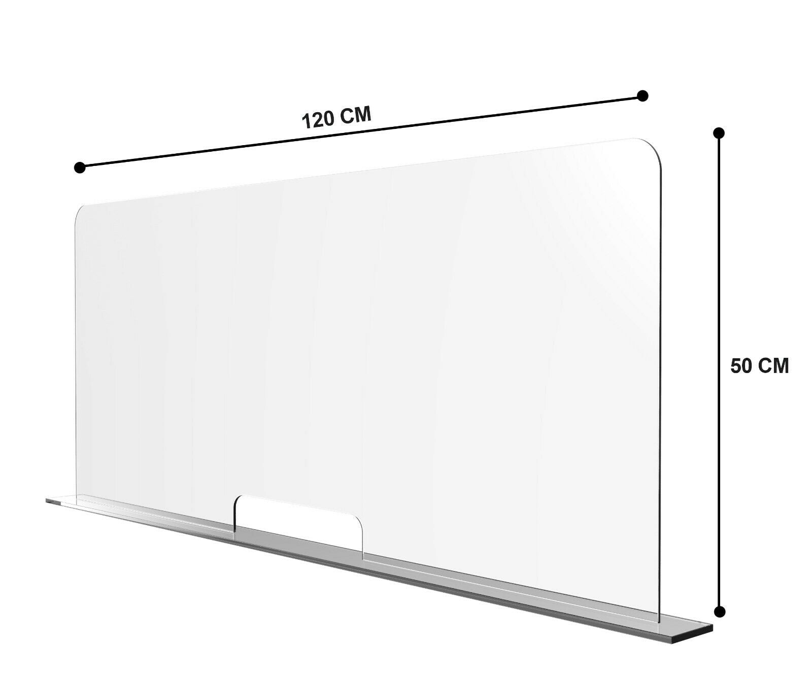 FREE DELIVERY 90cm x 90cm x 2 Screen Acrylic Countertop Sneeze Guard