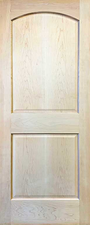 2 Panel Doors Raised Arch Top Stain Grade Maple