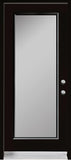 1-Lite Acid Etched Glass Entry Doors-BLACK Exterior