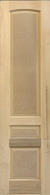 RAISED PANEL DOOR 3-PANEL ARCH TOP 24