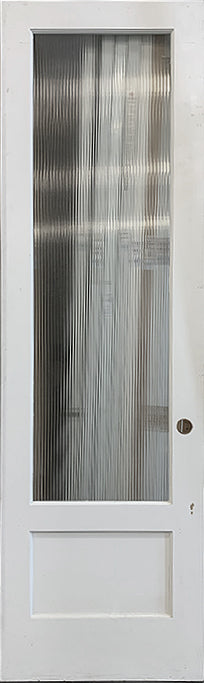 Interior French Door 1-Lite Narrow Reeded Glass 28