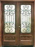 """GLASGOW"" MAHOGANY DOUBLE FRONT DOORS 6FT. WIDE"