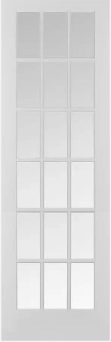 French Interior Wood Grill Door Clear Glass 30