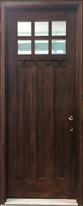 "Craftsman Mahogany Front Entry Door 36"" x 96"""