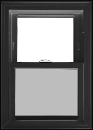 STANDARD SINGLE HUNG WINDOWS TO ORDER-BLACK EXTERIOR