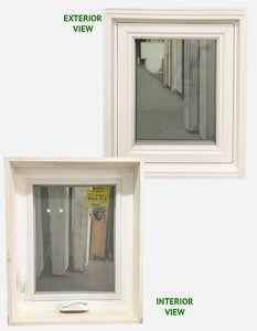 "Casement Window Left Hinge 21"" Wide x 25"" Tall"