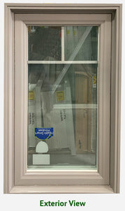 "Casement Window 23 1/4"" Wide x 40 1/2"" Tall + Cottage Grill"