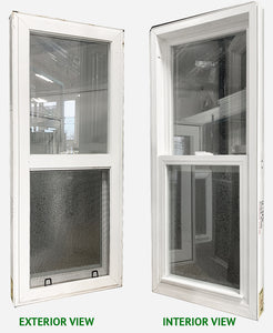 "Single Hung Style Window 18"" Wide x 42 ½"" Tall-Frosted Glass"