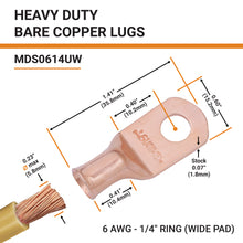 "6 AWG x 1/4"" Stud (Wide)"