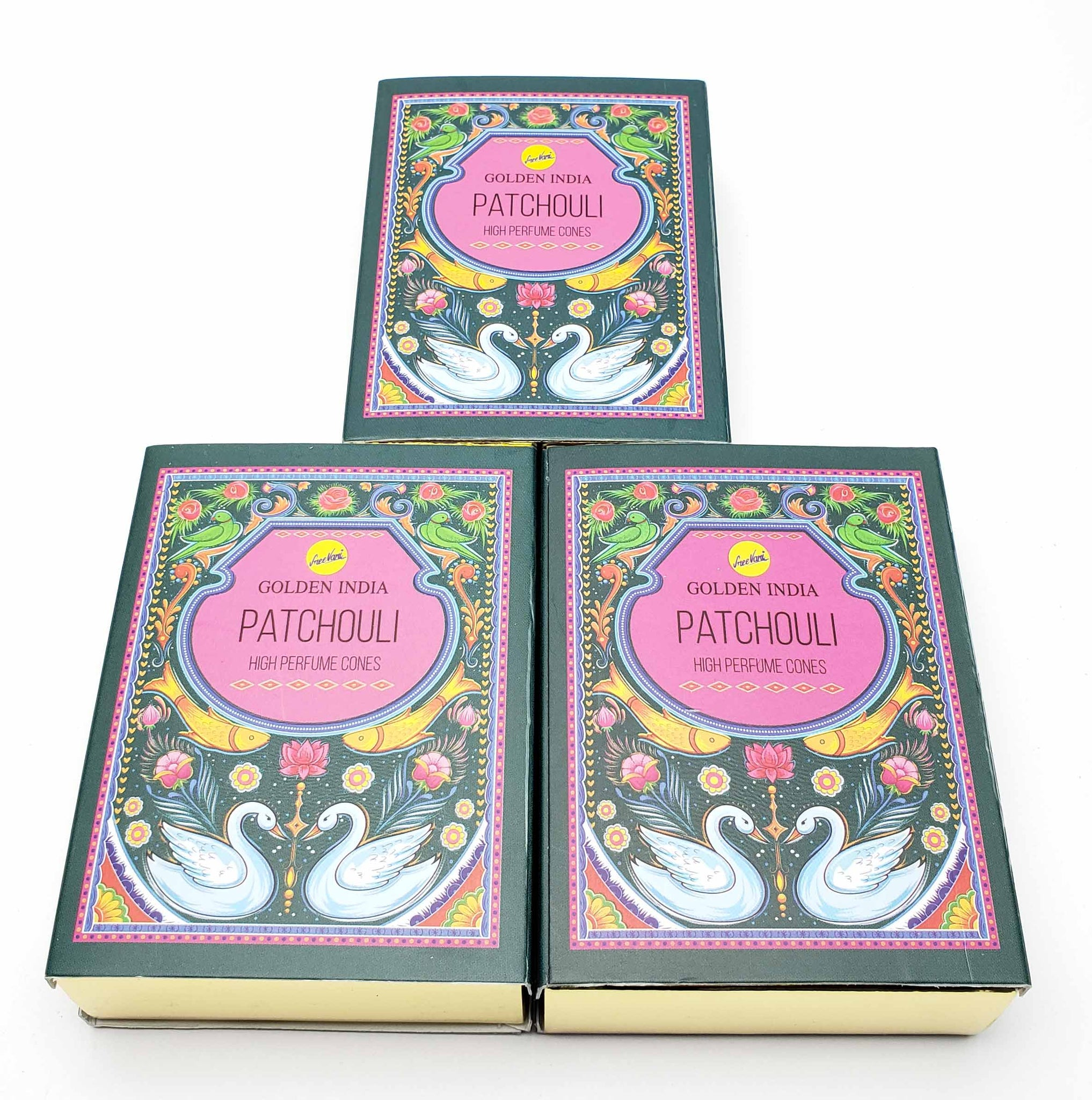 Golden India Patchouli Incense Cone