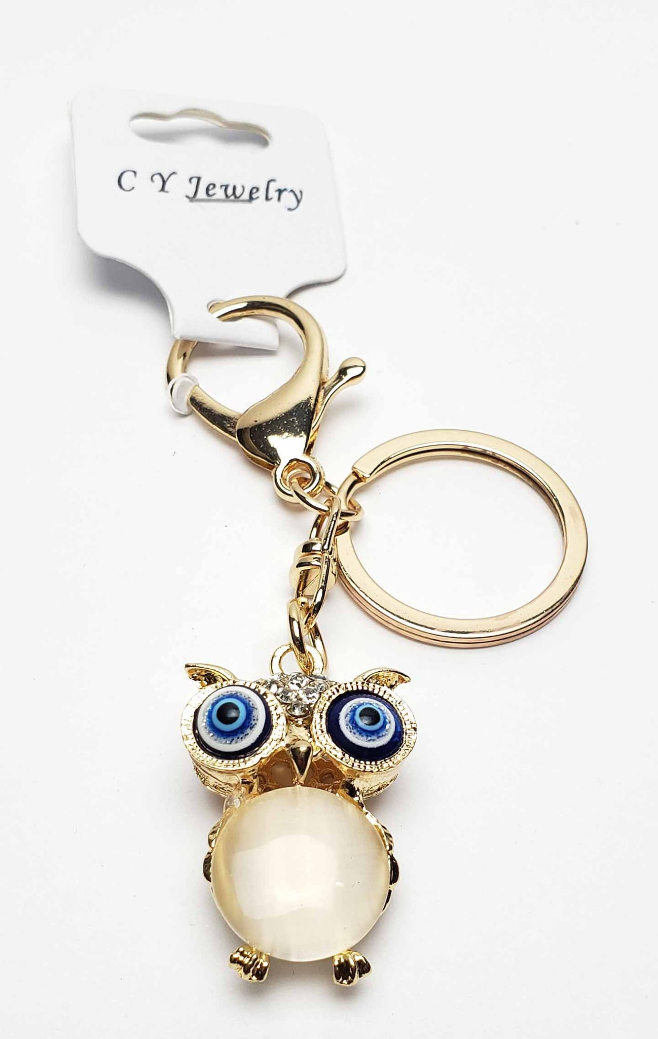 Owl with Evil Eye Key Chain