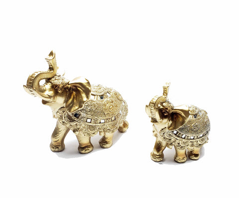Gold Elephant Statue
